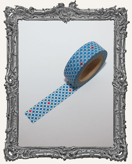 Washi Tape - Blue and Red Diamond