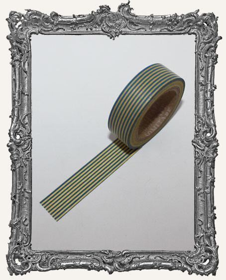 Washi Tape - Blue and Yellow Thin Stripe