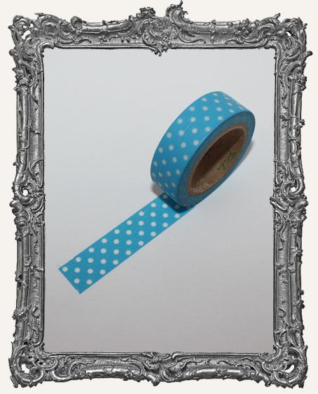 Washi Tape - Sky Blue with White Dots