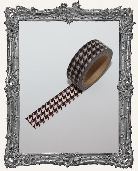 Washi Tape - Brown Houndstooth