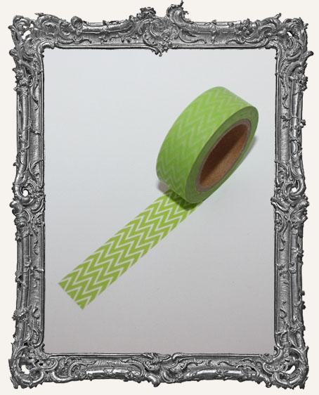 Washi Tape - Lime Green Chevron