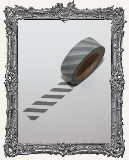 Washi Tape - Grey Stripe