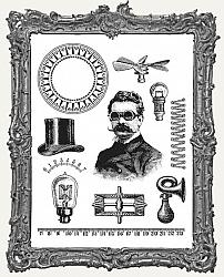 Tim Holtz - Cling Mount Stamps - The Professor