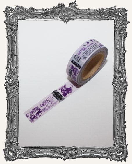Washi Tape - Purple Vintage