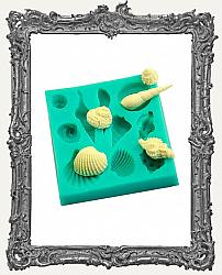 Small Green Silicone Mold - Shell Set