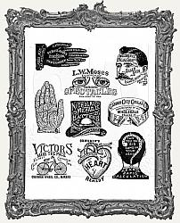 Tim Holtz - Cling Mount Stamps - Eclectic Adverts