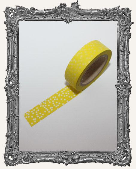 Washi Tape - Yellow Random Dots