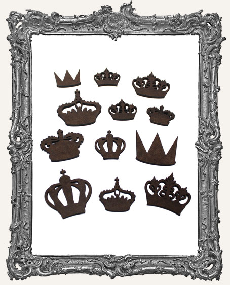 Crown Cut-Outs Set II - 12 Pieces