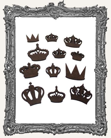 Crown Cut-Outs Set II - 12 Pieces