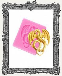 Small Pink Silicone Mold - Mini Dragon