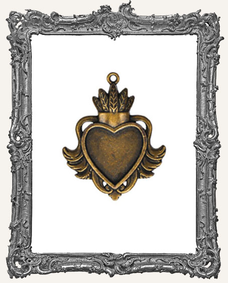 A Gilded Life Bronze or Silver  - Heart Bezel LARGE