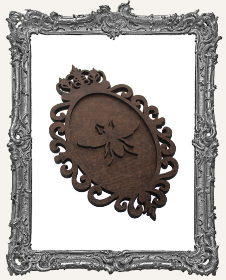 Layered Cameo Frame Silhouette Ornament - Queen Bee
