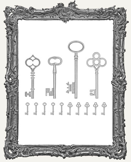 Tim Holtz - Idea-ology - Silver Keys Metal Adornments