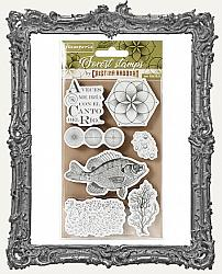 Stamperia Cling Stamp Set - Forest - Fish 7 Pieces