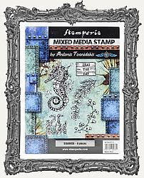 Stamperia Cling Stamp Set - Sea World - Seahorse 6 Pieces