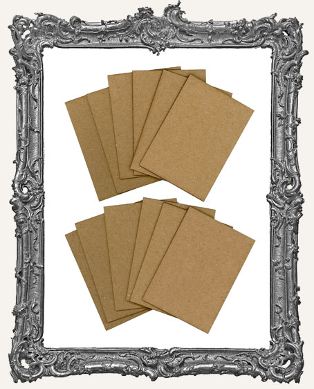 Bulk Chipboard ATC Bases Set of 12 - Straight Corners