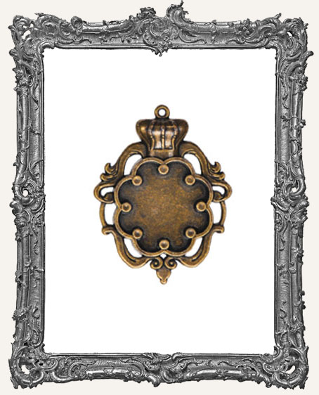 A Gilded Life Bronze or Silver - Crown Bezel LARGE