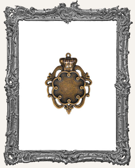 A Gilded Life Bronze or Silver - Crown Bezel SMALL