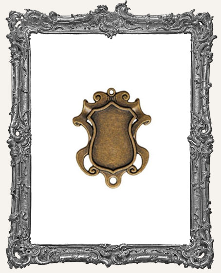 A Gilded Life Bronze or Silver   - Shield Bezel SMALL