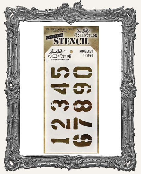 Tim Holtz Layering Stencils - NUMBERED