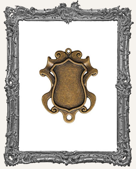 A Gilded Life Bronze or Silver - Shield Bezel LARGE