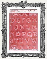 Stamperia A4 Soft Maxi Mould - Alphabet