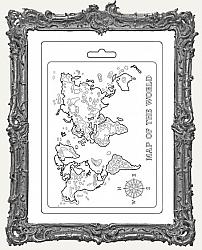 Stamperia A5 Soft Texture Impression Mould - Map Of The World