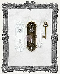 Prima Memory Hardware Embellishments - Antique Metalware Avigno Locks and Keys