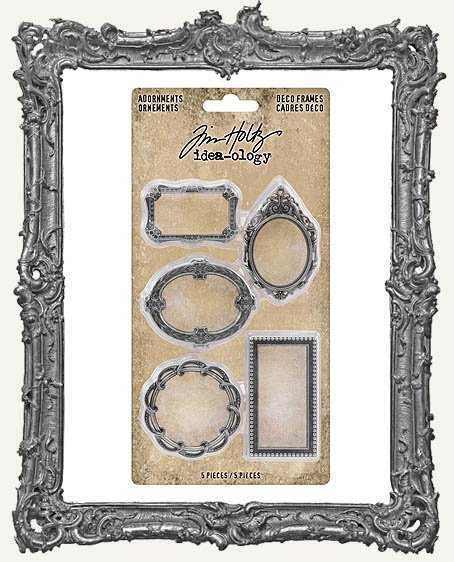 Tim Holtz - Idea-ology - Adornments Metal Deco Frames 5 Per Pkg