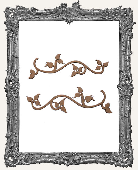 Ornate Ivy Flourish Cut-Outs - Set of 2