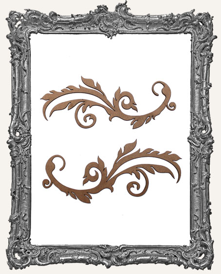 Ornate Flourish Cut-Outs Style 1 - Set of 2
