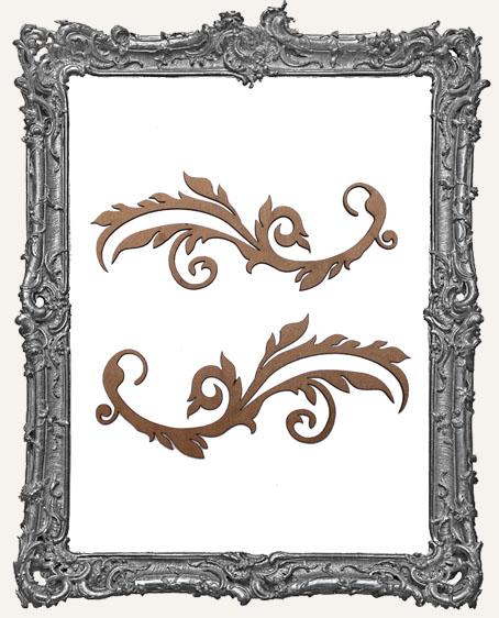 Ornate Flourish Cut-Outs Style 1 - Set of 2