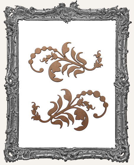 Ornate Flourish Cut-Outs Style 3 - Set of 2