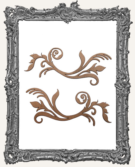 Ornate Flourish Cut-Outs Style 2 - Set of 2