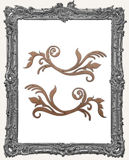 Ornate Flourish Cut-Outs Style 2 - Set of 2