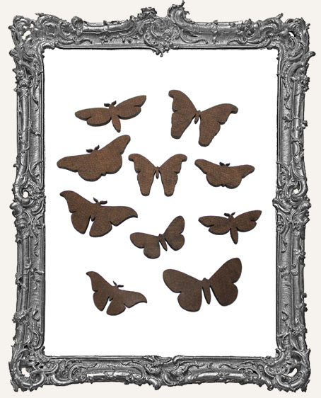 Moth Cut-Outs - 8 Pieces