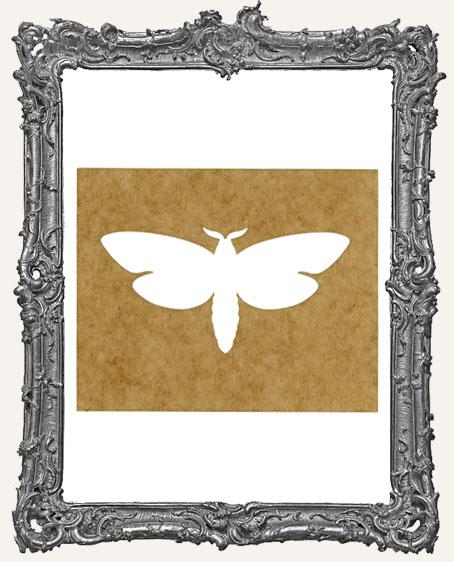 SMALL Moth Stencil Style 3
