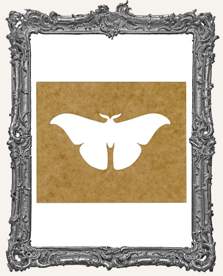 SMALL Moth Stencil Style 2