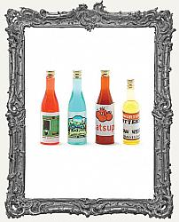 Miniature Set of Four Colorful Bottles