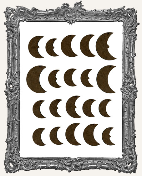 Moon Cut-Outs WITH CHARM HOLES - 20 Pieces