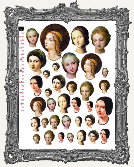 33 Santos Art Doll Head Paper Cuts - Set II