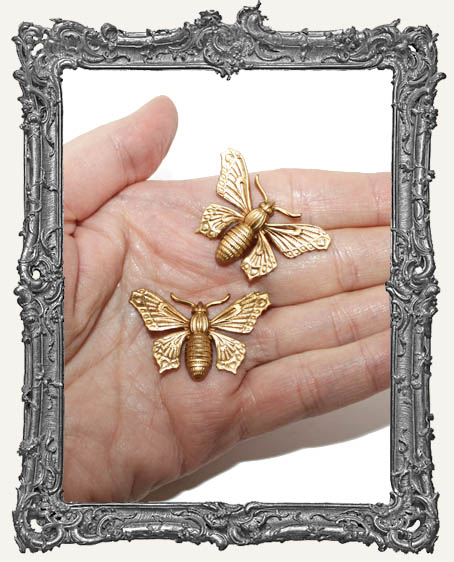 Fancy Brass Moths - Set of 2