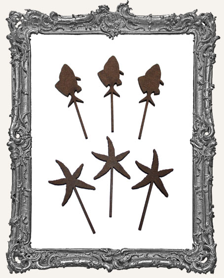 Fish and Starfish Wands - 6 Pieces