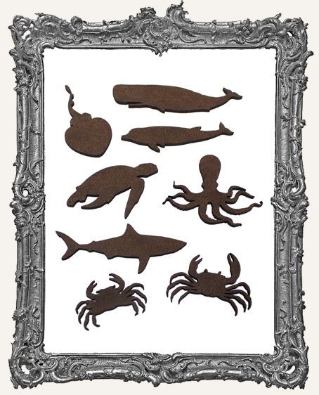 Sea Creature Mix Cut-Outs - 8 Pieces