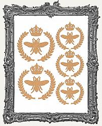 Queen Bee Laurel Collection Cut Outs - 5 Sets - 20 Pieces
