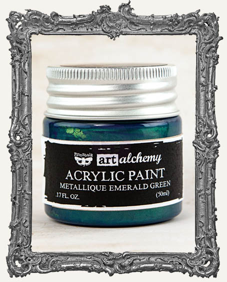 Finnabair - Art Alchemy - Metallique Acrylic Paint - Emerald Green