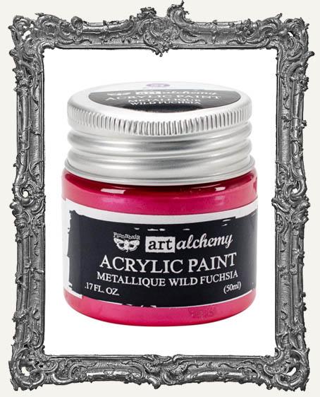 Finnabair - Art Alchemy - Metallique Acrylic Paint - Wild Fuchsia