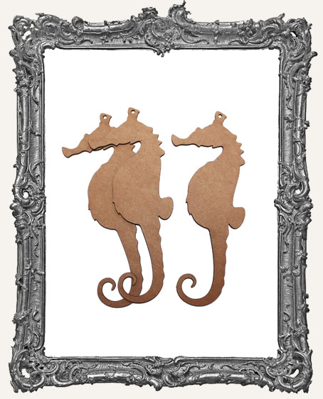 Chipboard Seahorse Tags - Set of 3
