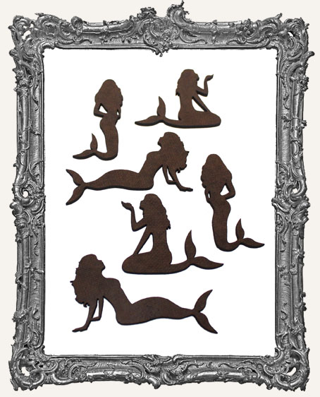 Mermaid Cut-Outs - 6 Pieces