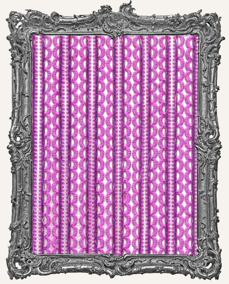 German Dresden Border Mini Scalloped FUCHSIA 16 Strips